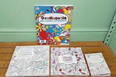 4 Adult Colouring Books As New Condition