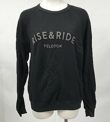 Peloton Boutique Women's Pullover Rise and Ride Black Size L NEW Spin Cycle Bike
