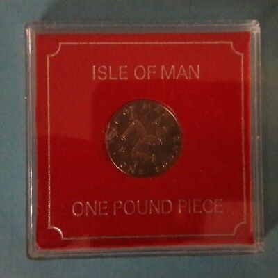 1978 Isle Of Man One Pound Coin ,see Pictures