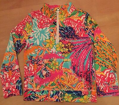 Lilly Pulitzer Girl's Popover Fishing for Compliments Small 4/5 EUC
