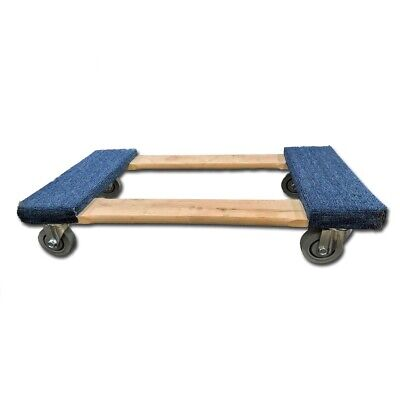 "4 Wheel Dolly Carpeted with 3"" deluxe gray casters"
