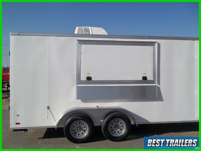 7x16 enclosed concession vending trailer finsiehd w sinks window ac electrical