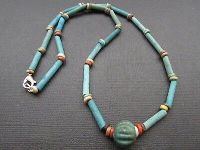 NILE  Ancient Egyptian  Amulet  Bead Necklace ca 100 BC