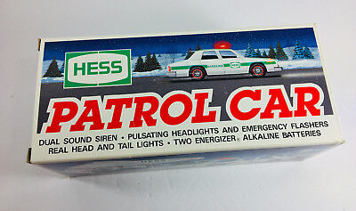 1993 Hess Toy Patrol Car Police Cruiser - Dual Sound Siren