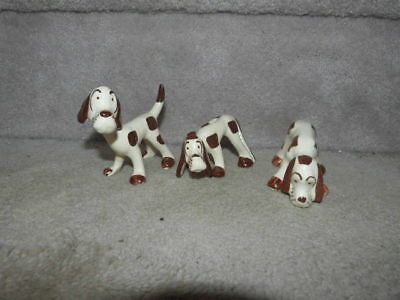 Lot Of 3 Rio Hondo Vintage Chic Pottery California Spotted Hound Dog Dogs Nodder