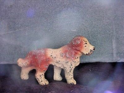 Antique Miniature Cast Iron Dog Figurine Original Paint Early 1900's
