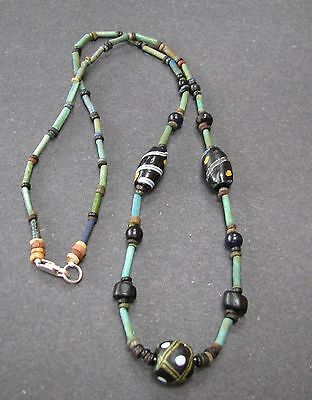 NILE Ancient Egyptian Mosaic Amulet Mummy Bead Necklace ca 300 BC