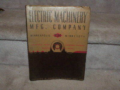 Vtg Electric Machinery Mfg Company Minneapolis Em Minnesota Electrical Data Book