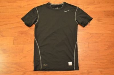 New with tags Boy's NIKE PRO DRI-FIT Black Short Sleeve Compression Shirt large