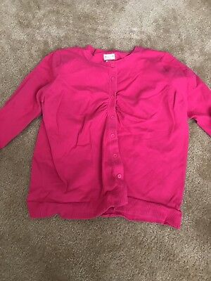 Womens Maternity Motherhood Pink Cardigan Large Euc