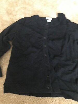 Womens Motherhood Maternity Black Cardigan Guc Motherhood Large