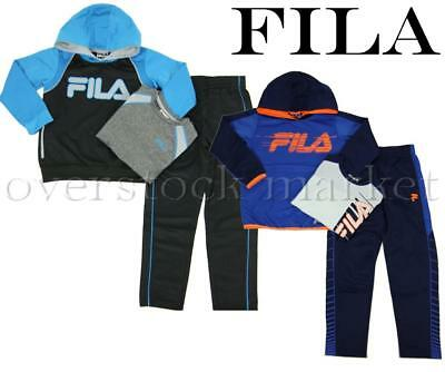 New! Boys Fila 3 Piece Activewear Set! Variety Of Styles, Colors, & Sizes!