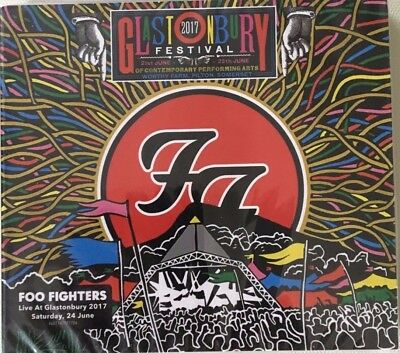 """Foo Fighters """"live At Glastonbury 2017""""rare Double Cd Live Neuf !"""