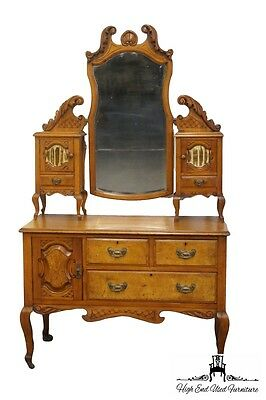 "Antique French Provincial Louis XVI Style 45"" Vanity / Dressing Table"