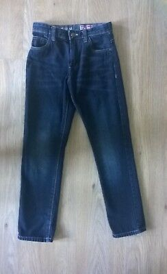 Next Boys Dark Blue Denim Jeans Age 10 Regular Fit 140Cm Straight Leg 9