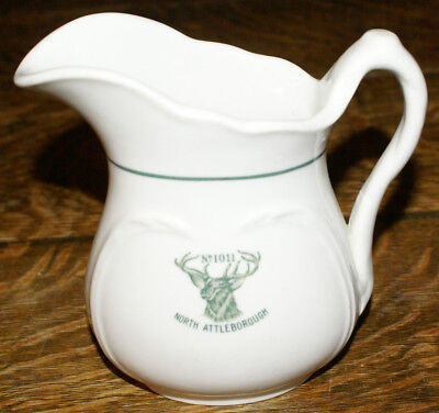 "Elks Club No. 1011 North Attleboro Massachusetts * 5"" Tall Pitcher with Logo"