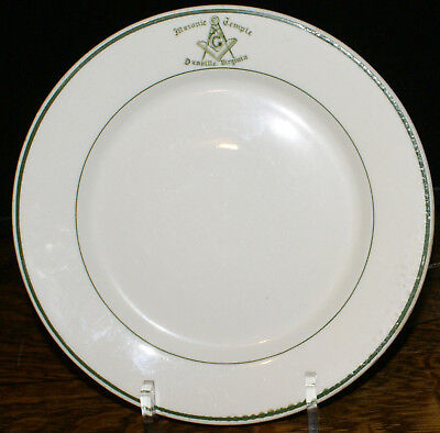 "Masonic Temple Plate Danville Virginia * Warwick Albert Pick Chicago 9"" Plate"