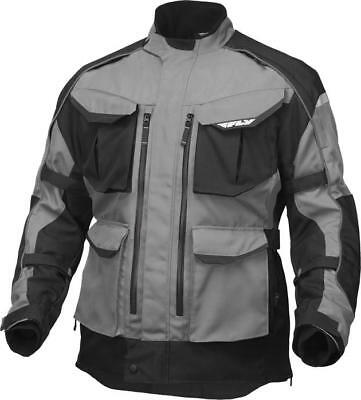 Fly Racing Terra Trek 4 Jacket Silver/Black Small