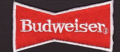 """Budweiser Beer 3"""" BowTie Embroidered Iron On Patch *New*"""