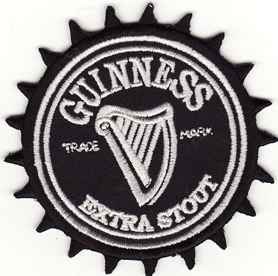 "Guinness Extra Stout 3"" Embroidered Iron On Beer Patch *New*"