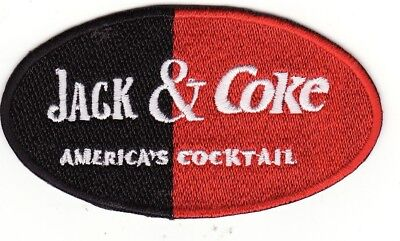 "Jack Daniels & Coke 3 1/2"" Jack & Coke America's Cocktail Iron On Patch *New*"