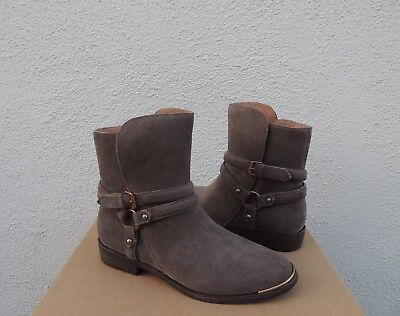 28b6daaf895 UGG KELBY MOUSE Suede Harness Buckle Ankle Boots, Women Us 7/ Eur 38 ~Nib