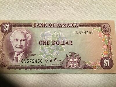 JAMAICA 1960 1 Dollar banknote  uncirculated
