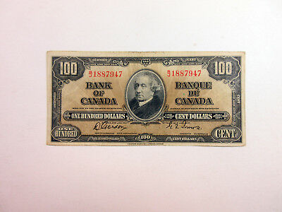 Bank of Canada 100 Dollars 1937 P-64b CBNC Choice Fine
