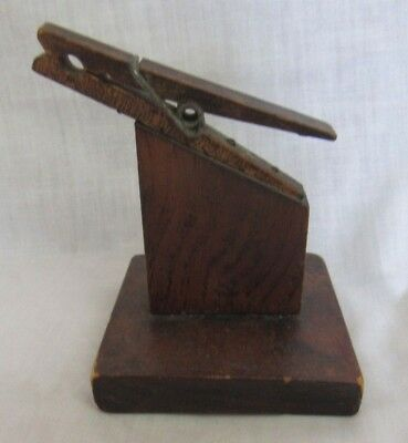 Vintage WOOD RECIPE CARD HOLDER Clothes Pin, Made in Vermont