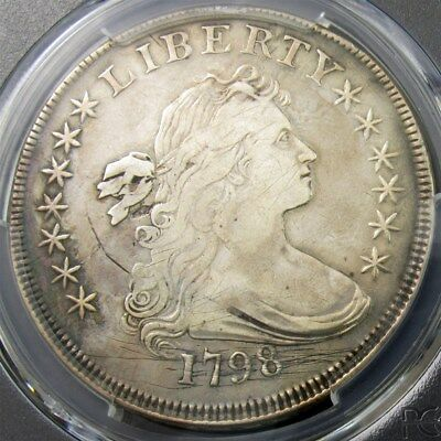 1798 Draped Bust Dollar Large Eagle - PCGS Genuine (VF Dets) - Certified Silver
