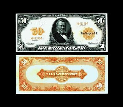 1913 $50 Gold Certificate Note Fr. 1199 ~~~~~ALMOST UNCIRCULATED