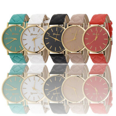 NEW Womens Ladies Fashion Watches Geneva Faux Leather Analog Quartz Wrist Watch
