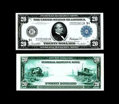 Fr. 999 $20 1914 Federal Reserve Note ~~ UNCIRCULATED ~~HIGH GRADE