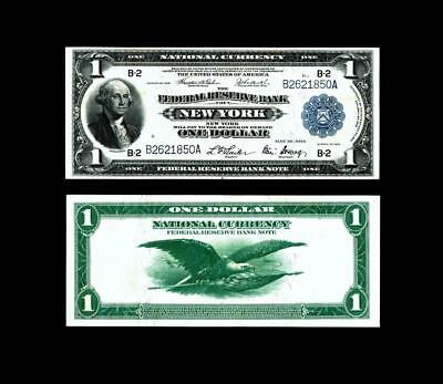 NEW YORK,NY ~ 1918$1 Large Federal Reserve Note ~ABOUT  UNCIRCULATED