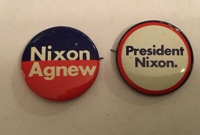 RICHARD NIXON  For President AGNEW For V-President 1968 Campaign Buttons 2