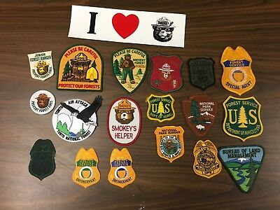 Lot Of 19 Different National Park Forest Service Smokey Bear Patches