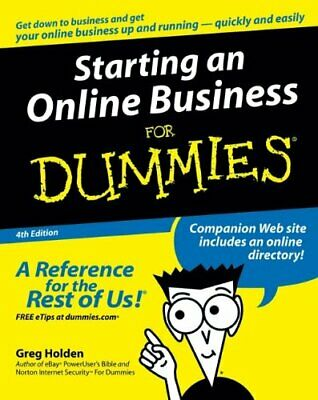 Starting an Online Business For Dummies by Holden, Greg Paperback Book The Cheap