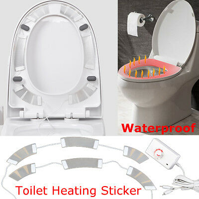 AC100-240V to DC16V Invisible ElectricToilet Heating Sticker Waterproof 4M Cable