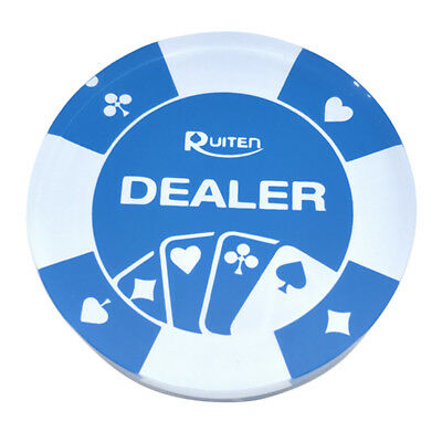 1 pc Acrylic Transparent White Dealer Buttons Pressing Poker Cards Guard 58 mm