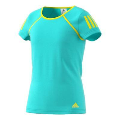 Adidas Girls Club Climalite Tennis T Shirt - Aqua | White | Blue | *5-14 Years*