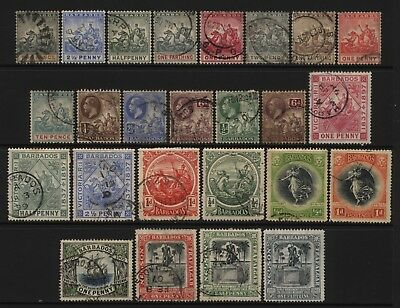 Barbados Collection 25 Early Stamps Used