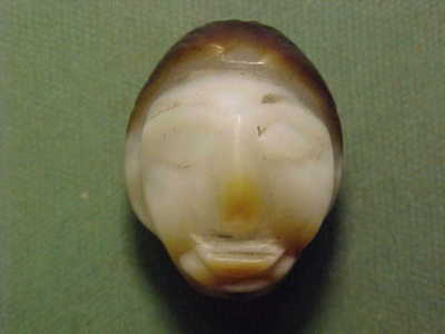 Near Eastern  agate amulet (Bust) 2nd/1st millennium BC.