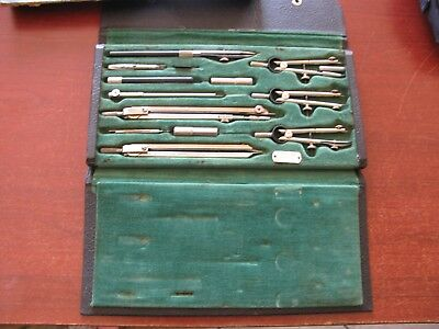 Vintage Neptune K&E Keuffel & Esser Co.NY 14 Piece Anvil Drafting Set