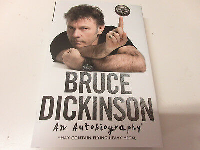 Bruce Dickinson(Iron Maiden)-What does this button do? Buch Signiert/Signed NEU