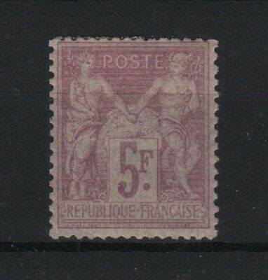 """FRANCE STAMP TIMBRE N° 95 """" SAGE 5F VIOLET SUR LILAS 1877 """" NEUF x TB  R589"""