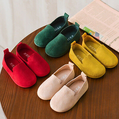 Fashion Baby Child Girls Cute Solid Color Casual Single Leather Pricness Shoes