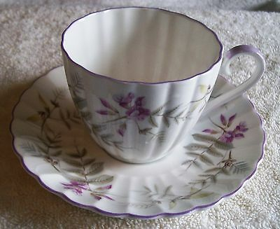 Royal Tuscan Fine Bone China From England, Cup And Saucer Set Lavendar And Gray