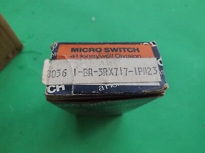 1 NOS Honeywell Micro Switch BA-3RX717  Free Ship