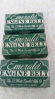 S.S.White Emerald Engine  Belt lot of 3 new in box