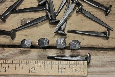 "1 1/2"" Rose head nails (25) in lot square antique wrought iron rustic look 1.5"""